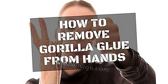 Remove glue on the hands.
