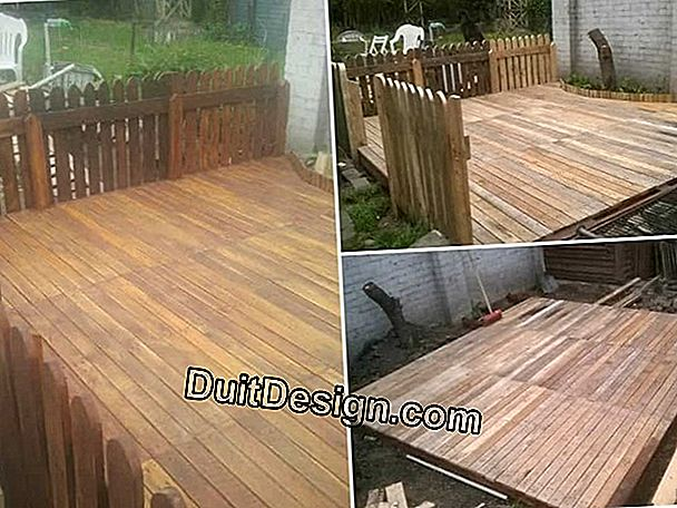 How to make a wooden terrace?