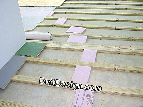 Carrying parquet flooring on insulation