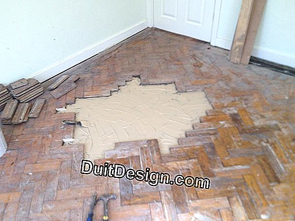 How to patch a concrete floor or parquet