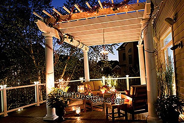 Lighting of a pergola