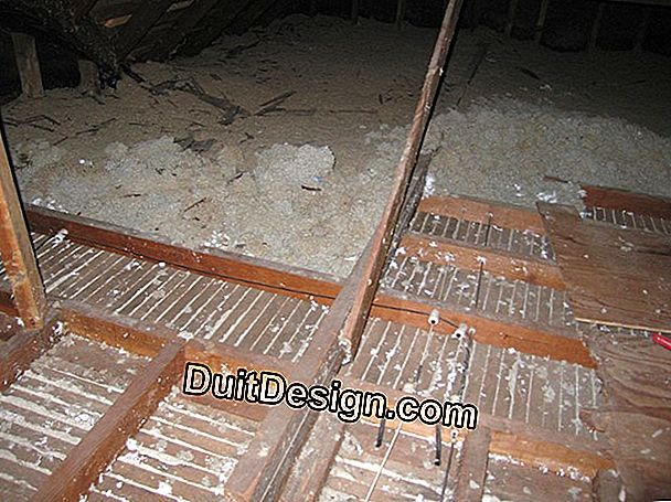 Attic floor insulation (unwoven wool)