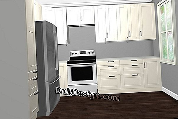 Attach high cupboards with lifting doors