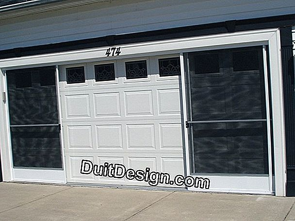 Install a sliding garage door