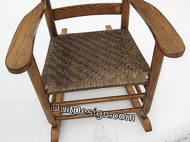 Repair a chair seat