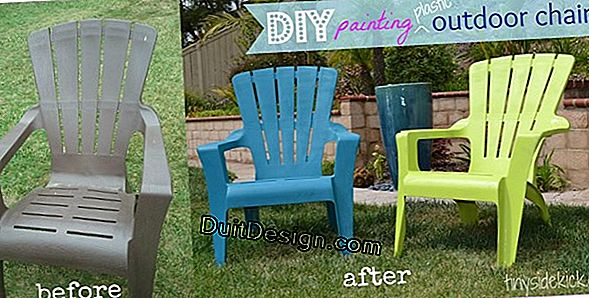 Paint plastic furniture