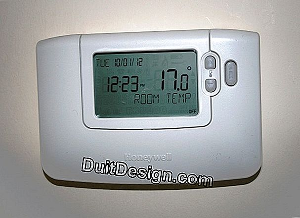 Install a wired room thermostat