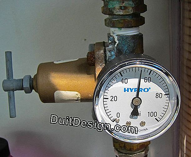 What should be the pressure after a water meter?