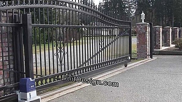 How to install a motorized sliding gate