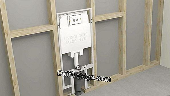 Install a suspended WC support frame