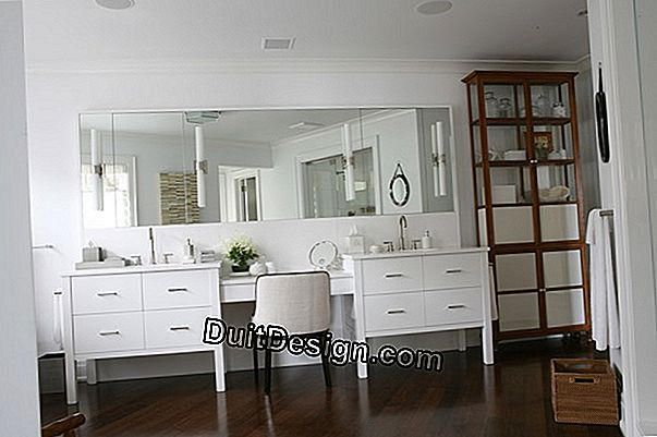 Install a design vanity in a room