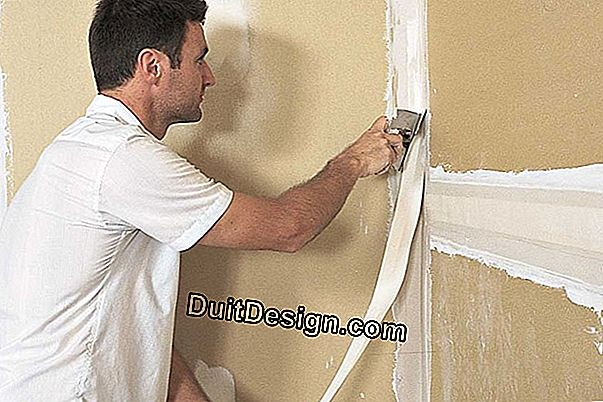 Make joints on plasterboard