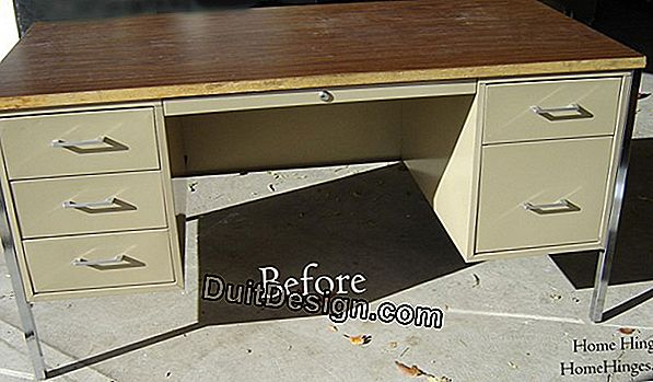 Renovate a metal table with a spray gun