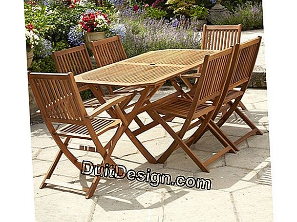 Garden landscaping: garden furniture