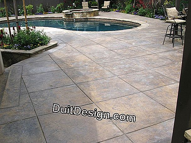 A decorative concrete deck