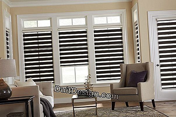 Horisontal slat blind