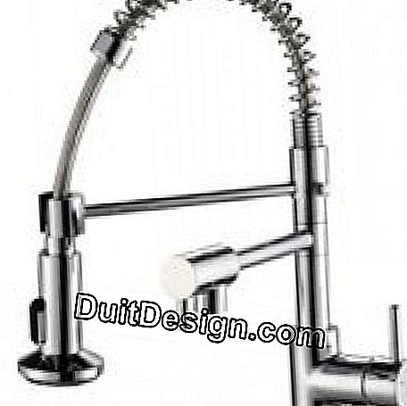 STOLI CHROME hand shower mixer with shower head from ROUSSEAU