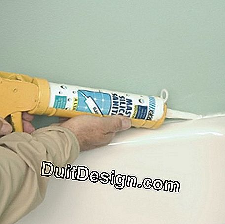 Install the seal around the edge of the bathtub