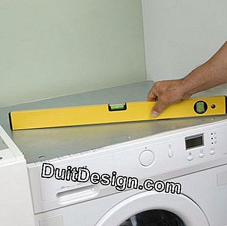 Control the plumb of the washing machine