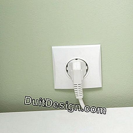 Install the electrical outlet of the washing machine
