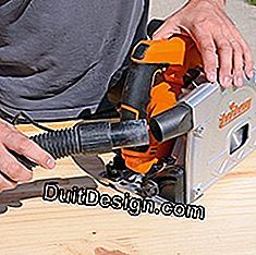 suction connection on circular saw