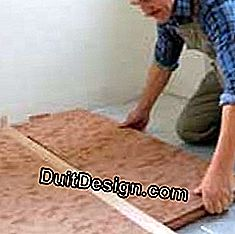 Insulating panels on the ground: insulation