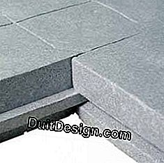 Insulating panels on the ground: panels