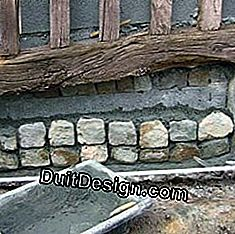Grouting your stone for foundation facing stones