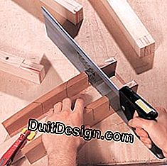 Cut the leveling of the tenons