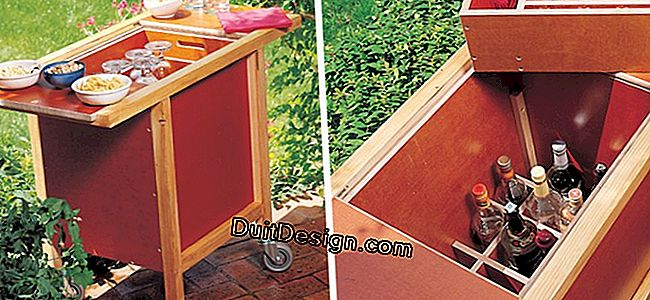 Build a garden bar with wheels