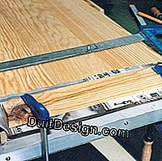 Glue and flatten planks
