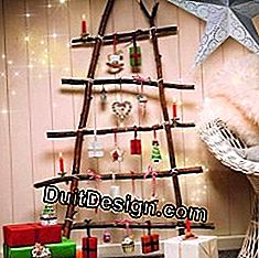 Make a Christmas tree with branches