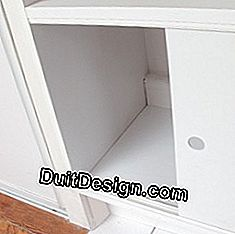 Install low furniture sliding panels