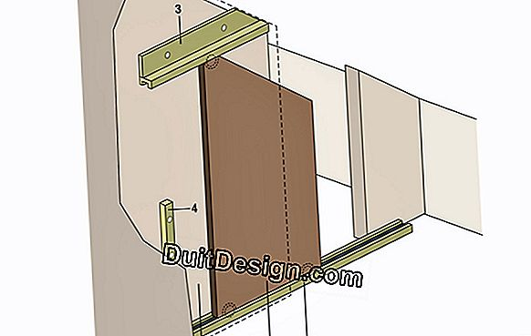 Create a sliding door: door