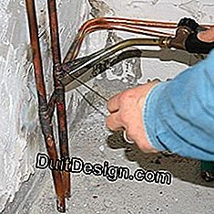 copper plumbing connection