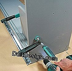 screwing the sides of a shelf