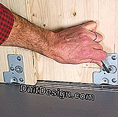 adjust the plumb and the height of the doors