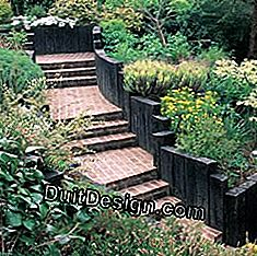 garden stairs made of brick and wood