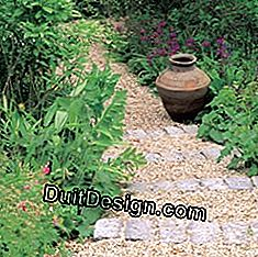 garden stairs in cobblestones and gravel