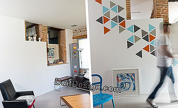 DIY-Painting: a graphic wall decoration