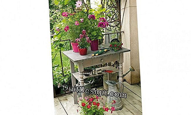 DIY: recycled potting table for gardening