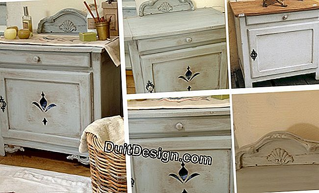 Recycle antique furniture in decorative bedside