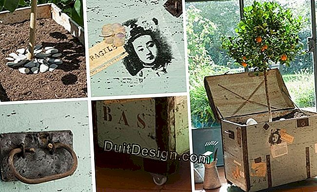Decoration: recycle a trunk in a decorative pot-pot