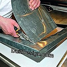 Dress a worktop with a zinc plate: plate