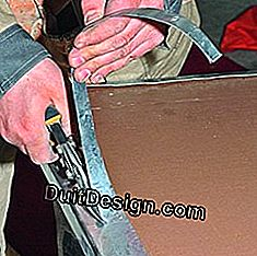 Dress a worktop with a zinc plate: worktop