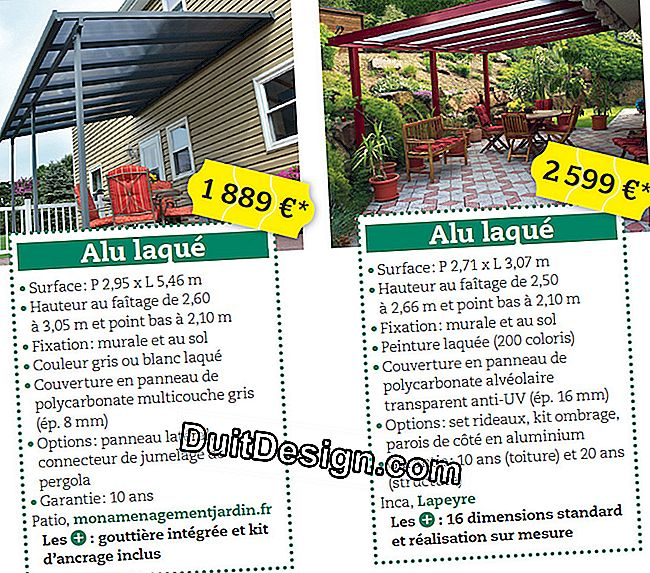 Eight metal pergolas in kit from 300 €: cover
