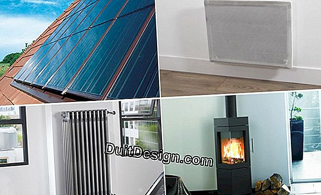 Choose the energy source of your heating
