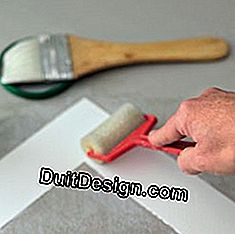 apply glue to the mat window using a roller