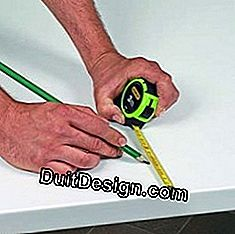 Measuring and cutting a kitchen worktop