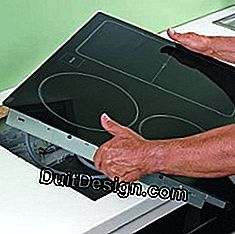 Lay an induction plate on a work surface